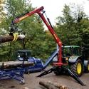 Grue hydraulique DOT 50K pour tracteur - Grue à système hydraulique intégré pour tracteur, portée de 7m