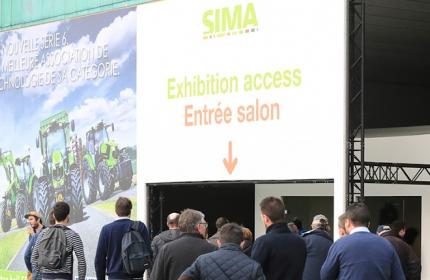Bâche extérieure entrée SIMA 2017