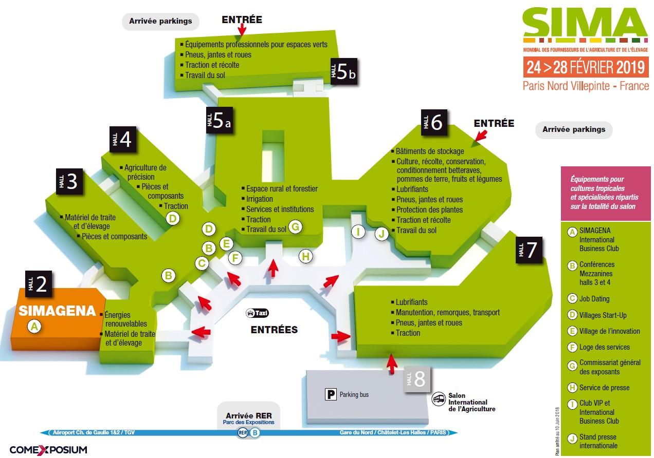Plan général SIMA 2019