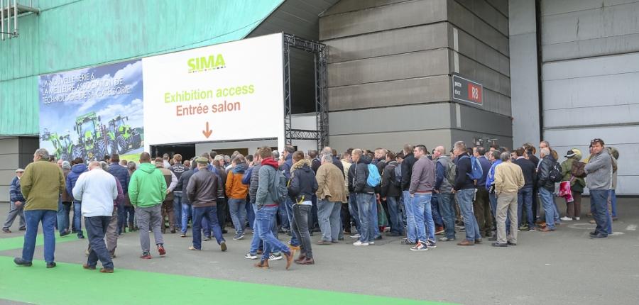 Entrée visiteurs SIMA